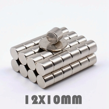 10/20/50Pcs 12x10 mm Neodymium Magnet Strong Round N35 12*10 Search Rare Earth Magnets For Crafts Gallium Metal