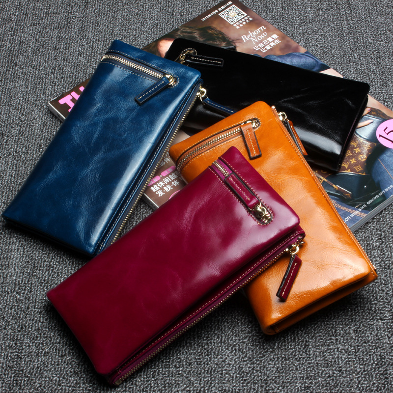 New fashion women wallet genuine leather brand wallets lady purse high capacity zipper clutch bag for men card folder wallet new fashion women wallet leather brand wallets women wholesale lady purse high capacity clutch bag for women gift free shipping