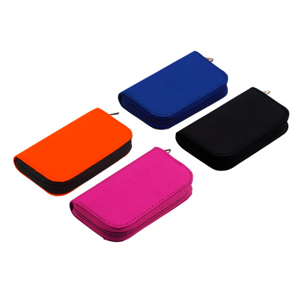 4 Colors SDHC MMC CF For Memory Card Storage Carrying Pouch Bag Box Case Holder Protector Wallet