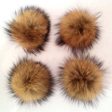 1PC Women Fluffy Fur Pompom Balls Accessories Knitted Beanies DIY Cap Scarves Natural Corsage Clothing Headpieces Decor