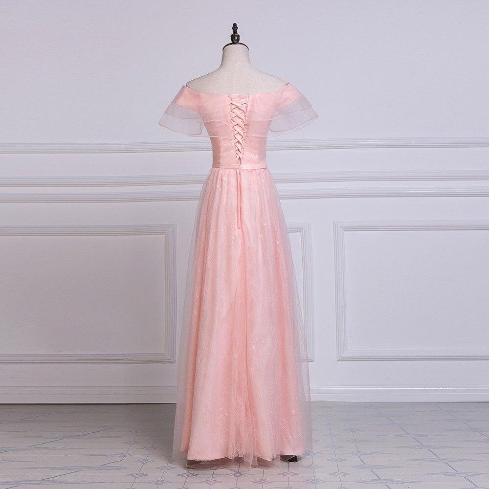 Noble Weiss graduación Vestidos 2018 Pink tulle Encaje Vestidos de ...