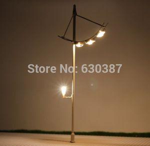 L038 5pcs Model Railway Lamppost Street Lamps Yard Lights HO OO TT Scale NEW Miniature