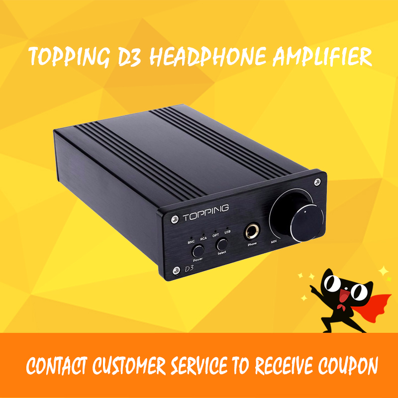 TOPPING D3 Headphone Amplifiers USB Optical Coaxial BNC USB DAC 24Bit/192kHz Portable Headphone Amplifier With Power Supply xduoo xd 01 usb optical coaxial dac headphone amp l portable headphone amplifier 24bit 192khz headphone amplifier