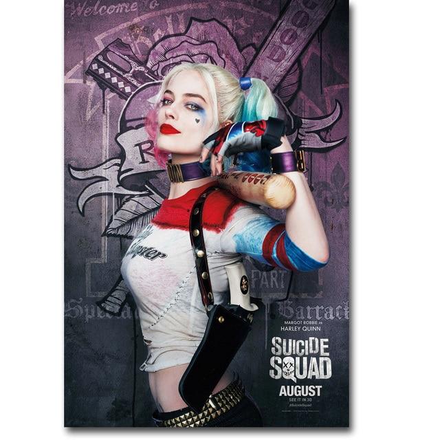 Art-Story- Harley Quinn Suicide SquadArt Silk Fabric Poster Print