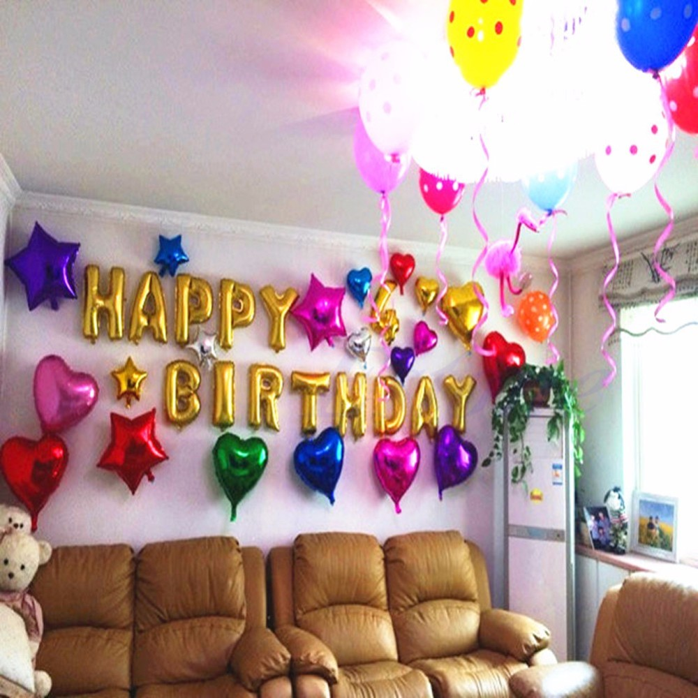 Happy Birthday Letters Foil Alphabet Balloon Party Decoration