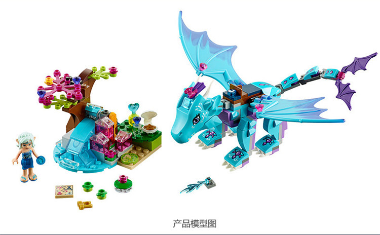 2016 L'eau Dragon Aventure 41172 Modèle de Bloc de Construction Jouets Éducatifs Enfants BELA 10500 compatible Elfes Brique Figure
