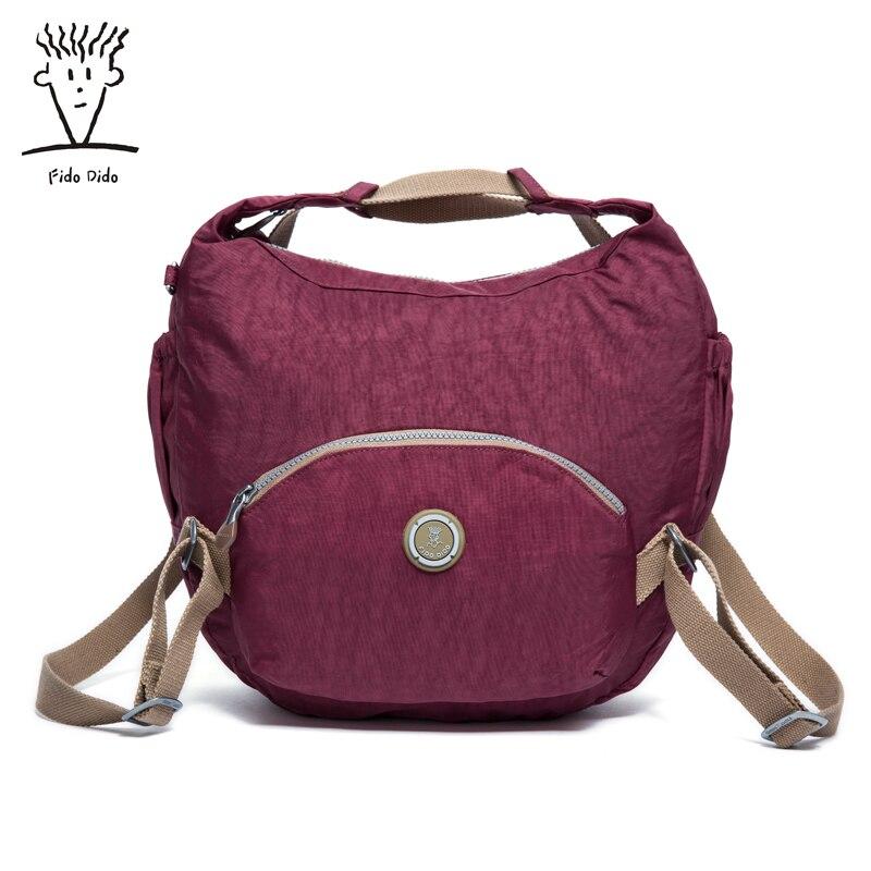 Fido Dido Brand Design Casual Shoulder Bags Women Small Messenger Bags Ladies Nylon Handbag Female Crossbody Bag!! fido