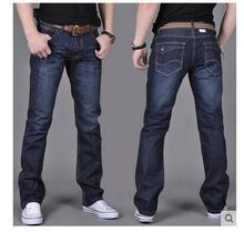 Autumn new males 's denims males' s autumn and winter plus giant measurement males 's large leg pants unfastened trousers males trousers