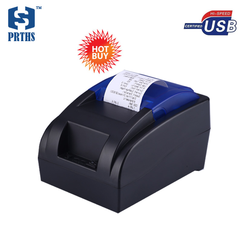 New USB thermal printer with EU/US/UK plug 58mm paper roll pos printer machine hot sale for store, supermarket HS-58HU 2016 new cash register paper 57 50 thermal paper pos machine printing paper 58mm small ticket paper roll 24 volumes