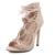 2016 Venda Quente Das Mulheres Bombas Lace Up de Tiras Dedo Aberto Escavar Botas de Verão Tornozelo Sandálias de Salto Alto de Casamento saltos Zapatos