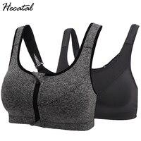 2018 Quick Dry Women Fitness Yoga Sports Bra For Running Gym Adjustable Zipper Bra Spaghetti Straps