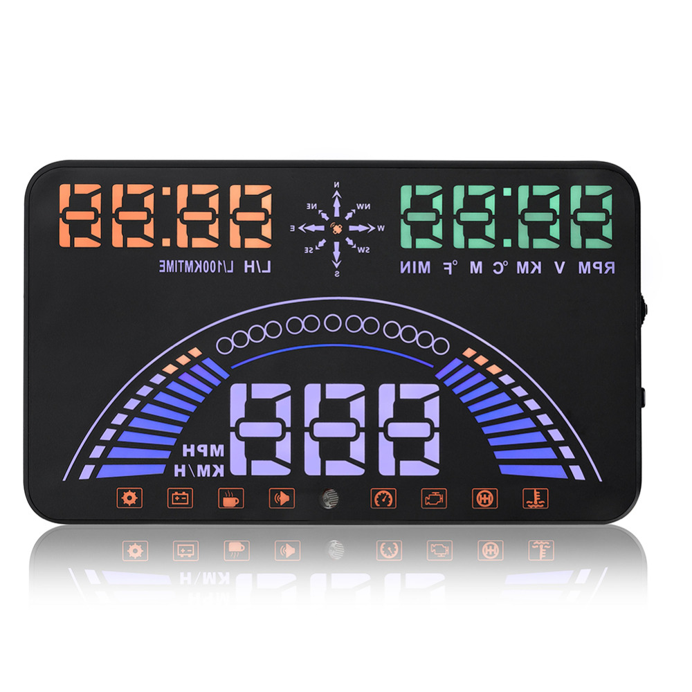 2017 New Car Hud Head Up Display 5 8 LCD Display Model S7 Safety Driving OBD