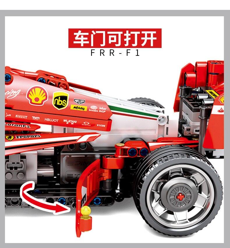 Sembo Compatibel legoed Technic F1 racer elektrische motor sets racer power functies PF bouwstenen kid speelgoed kit formule 1-in Blokken van Speelgoed & Hobbies op  Groep 2