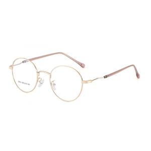 Image 2 - BCLEAR 2019 New Man Woman Retro Large Round Glasses Metal Alloy Eyeglass Frame Black Silver Gold Spectacles Eyeglasses Optical