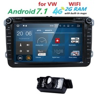 2Din Android7 1 Univeral Car DVD Player For VW Volkswagen Passat POLO GOLF Skoda Seat Leon