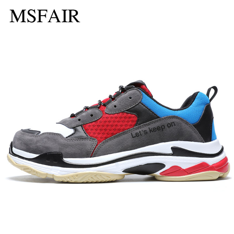 Msfair 2018 Ins Torre shoes Men Running Shoes Pig eight leather Mens Sneakers Mesh Sport Shoes For Women Lovers Shoes Size35-46