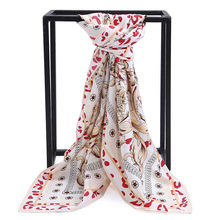Luxury scarf leopard print 100%twill silk scarves large square summer stole poncho hair neck for ladies big shawl Wraps