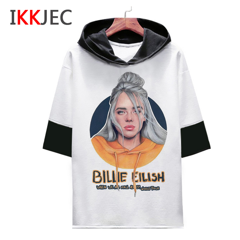 billie eilish   t     shirt   Print funny men male/women tee   shirts   Casual 2019   t  -  shirt   tshirt O-Neck fashion hip hop summer Streetwear