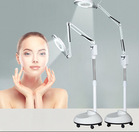 LED Cold Light Beauty Operation Magnifying Glass Nail Tattoo Floor Shadowless Lamp Magnifier Height Adjustable