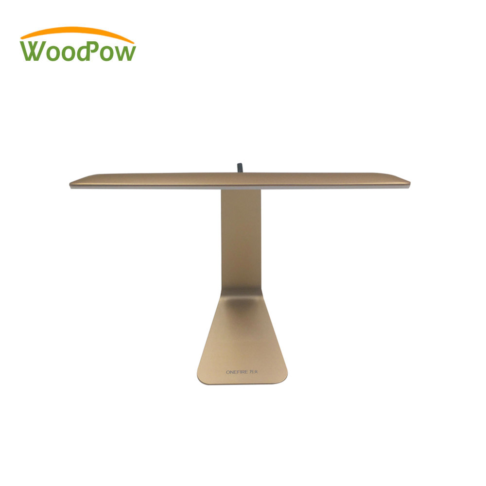 WoodPow Ultrathin Mac Style Desk Lamp LED 3 Mode Dimming Touch Switch Folding Reading USB Table Night Light Built in Battery