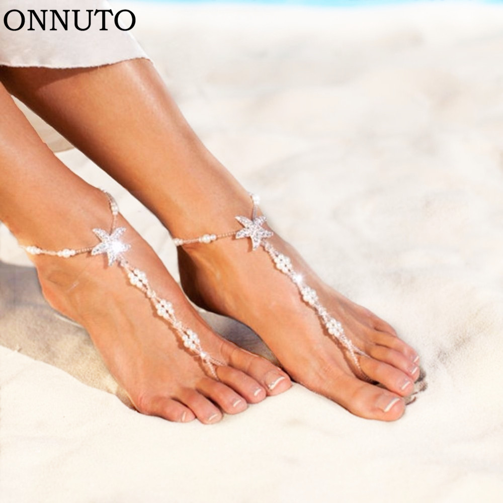 1 Pair Sexy Women Starfish Anklets Beach Fashion Jewelry