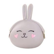 Cute silicone Coin Purse cartoon bunny key bag Korean candy color soft cotton coin bag fashion Cute Card Bag Small Wallet banjini bathroom bagping bagping court bag patch card cotton
