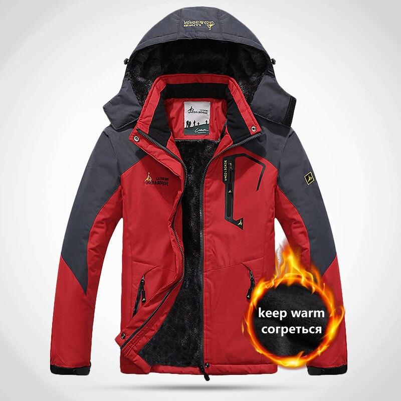 2019 Men s Winter Inner Fleece Waterproof Jacket Outdoor Sport Warm Brand Coat Hiking Camping Trekking