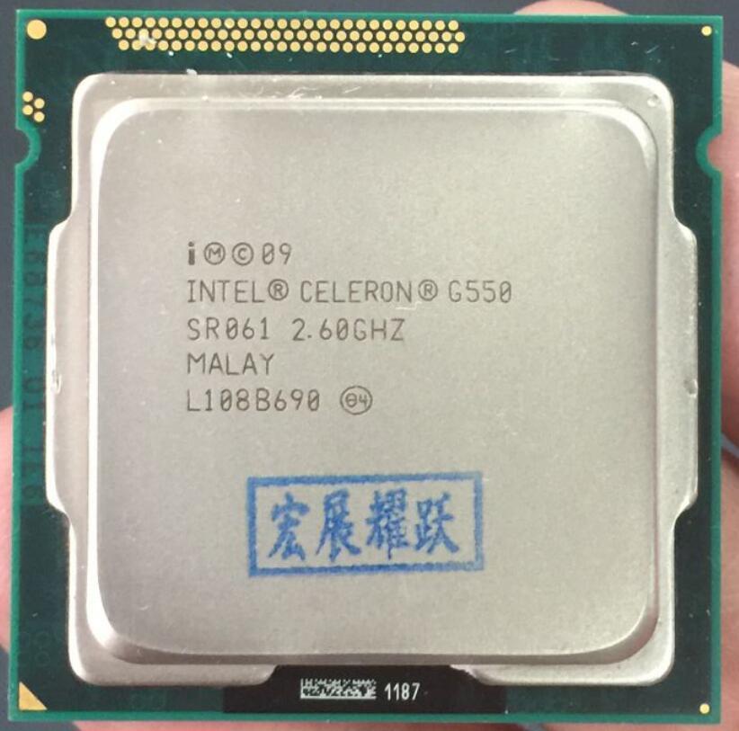Intel CPU Celeron G550 CPU 2M Cache, 2.60 GHz LGA 1155 TDP 65W desktop processor Dual-Core PC computer CPU intel core i3 2120 sandy bridge 3 3ghz lga 1155 65w dual core desktop processor intel hd graphics 20
