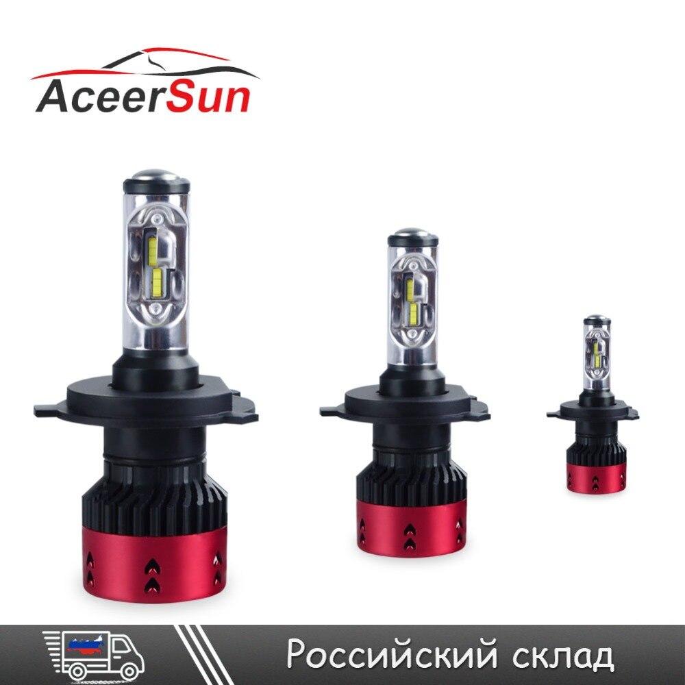 Супер яркий H4 светодио дный лампы 70 Вт 16000Lm автомобиля светодио дный фар 4/HB2/9003 Здравствуйте-Lo луч светодио дный H7 H11 9005 9006 H1 H15 12 В Туман лампа