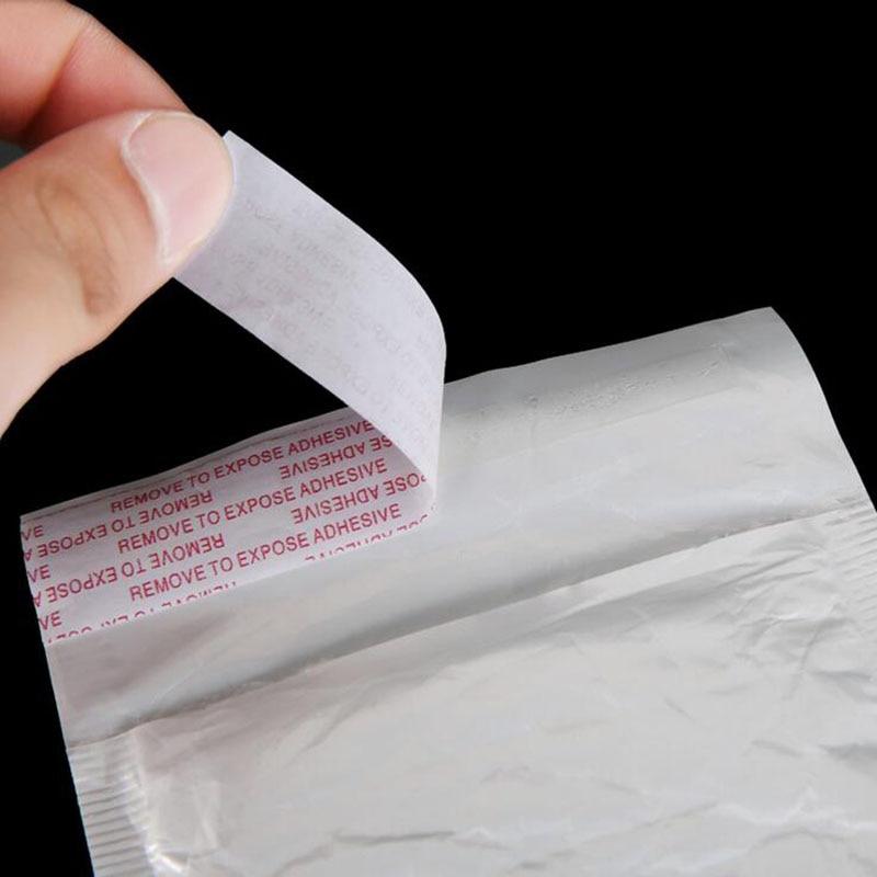 50pcs Bianco Zona Edificabile Poli Sacchetto di Bolla Busta Con Morbido Sacchetto di Imballaggio 11X15cm + 4 centimetri