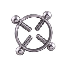 Sexy Alloy Screw On Nipple Ring Barbells Body Piercing Jewelry CX17