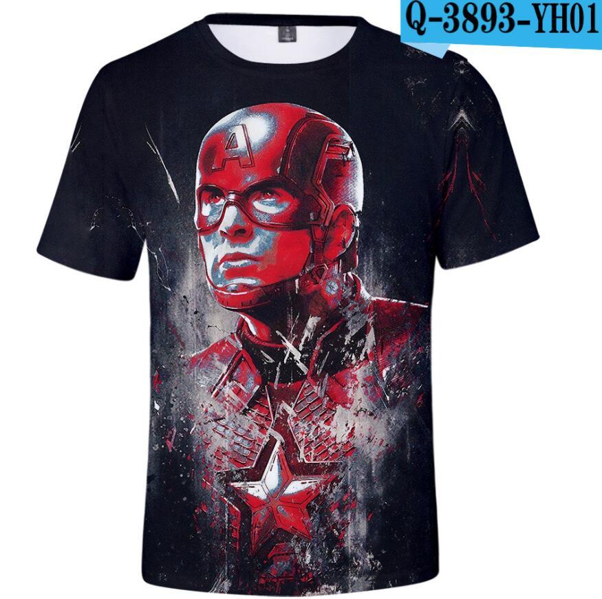 4-Final T-Shirt Avengers Superhero Marvel Kids Fashion Summer NEW America Cosplay 3d-Printing