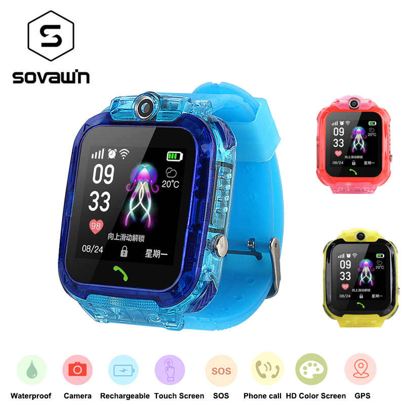 Q12 Smart Watch IP67 Waterproof Sport Kids Watches Girls Boys Android 1.44' Touch Screen Phone Smartwatch Fluorescence on Wrist