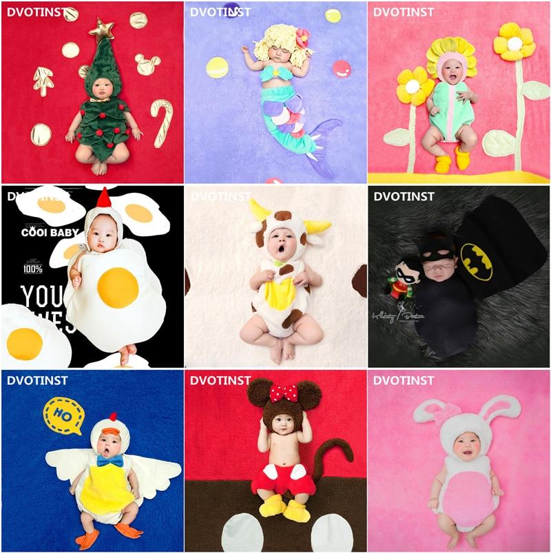 Dvotinst Neugeborenen Baby Fotografie Requisiten Fotografia Tiere Obst Body + Hut Halloween Cosplay Kostüm Studio Schießt Kleidung