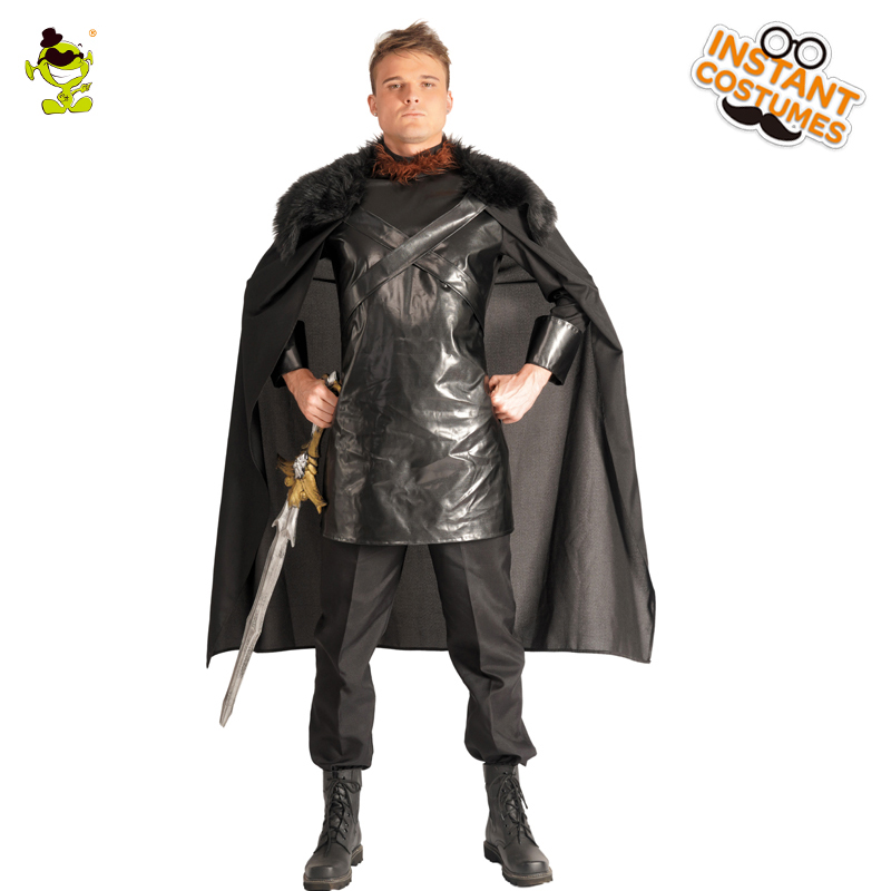 Adult Men's Cosplay Jon Snow Costumes Play The Game Winner Cosplay Medieval North King Fancy Dress For Halloween Party