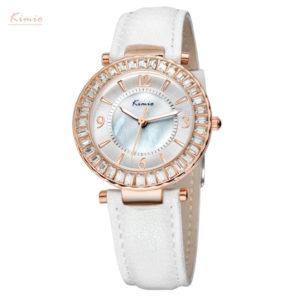 Kimio Luxury Brand Women's Dress Watches Genuine Leather Belt Crystal Quartz WristWatches relojes mujer dhl free shipping mitchell 2015 car repair software fits car from 1984 to 2015 work for any computer and no limited to use