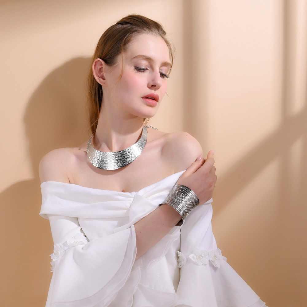 U7 Позолоченный /Стальный  Чокер Женщины Ожерелье Воротник Ювелирные Изделия Оптом Женские Чокеры  N555