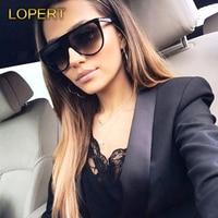 LOPERT Summer Fashion Sunglasses Women Modern Brand Designer Big Frame High Quality Sun Glasses Oculos De Sol Feminino Lentes