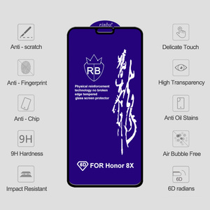 Image 5 - 6D Protective Glass for Huawei Honor 9X 9X Pro Screen Protector Honor V20 On Tempered Glass for Huawei Honor 7X 8X 9X 10 Lite