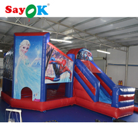 PVC inflatable bouncy castle with slide inflatable combo jumper bouncer inflatable sport games for sale
