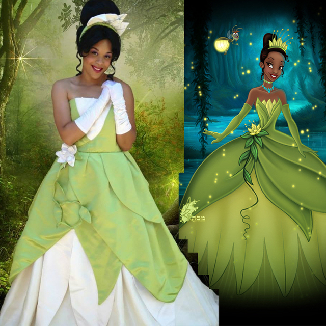 Tiana Princess Character frog princess mascot costumes fairy tale party fancy gift birthday dress customization free  sc 1 st  AliExpress.com & Tiana Princess Character frog princess mascot costumes fairy tale ...
