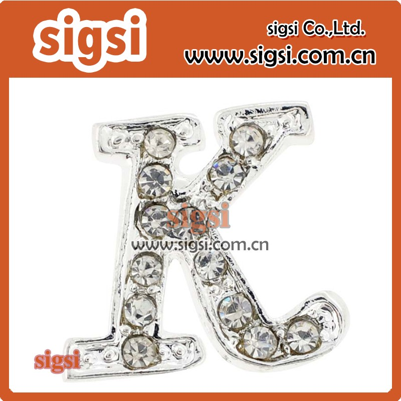 Hot Sale New Style Rhinestone Letter Brooch Crystal Letter K Brooch