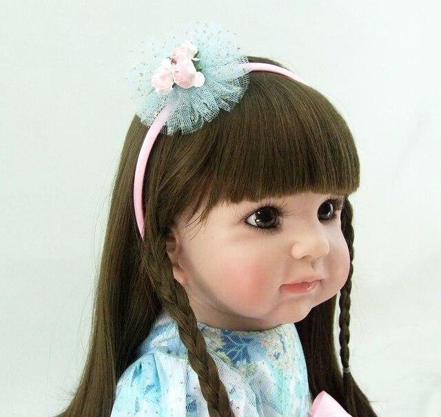 60cm Silicone Reborn Babies Doll Toy Vinyl Princess Toddler Girl Baby Doll Girl Brinquedos Fashion Birthday