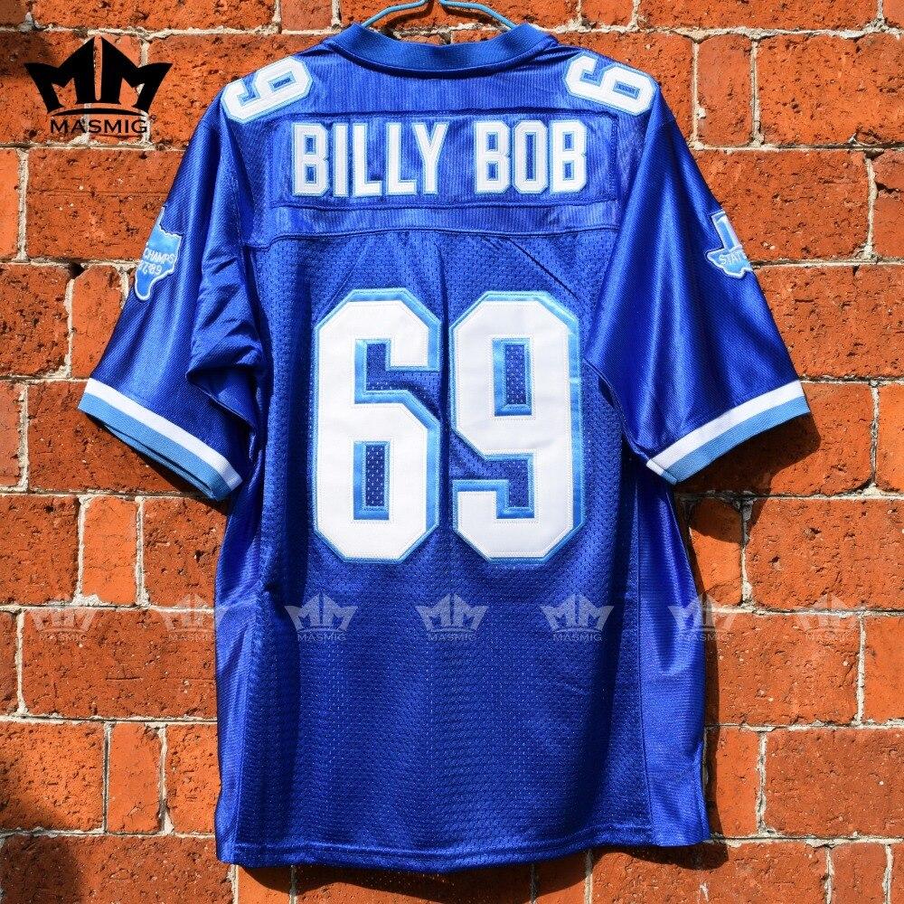 MM MASMIG Blues Billy Bob 69 Camisa De Futebol Americano Azul Do Time Do  Colégio em América Camisas De Futebol de Sports   Entretenimento no  AliExpress.com ... 3c4350266f722