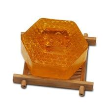 Купить с кэшбэком honey Essential Oil handmade Soap,anti-acne, wash soap whitening freckle, remove dark circles Bathing soap SU2