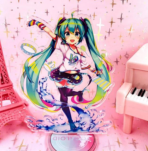 1 pièce. Modèle de support acrylique Hatsune Miku, dessin animé, modèle, jouets, support de plaque, figurine, jouet pour enfants, cadeau