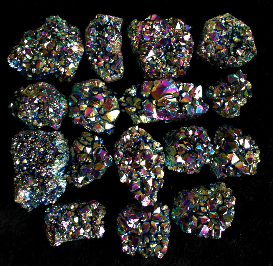 Drop shipping 140-200g rainbow angel aural cluster healing crystals free shipping