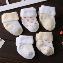5 Pair lot new cotton thick baby toddler socks autumn and winter warm baby foot sock cheap JYFTNC CN(Origin)