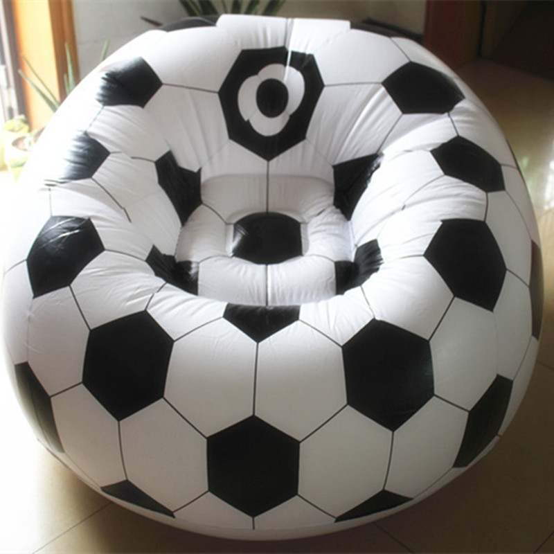 Living room sofa Inflatable basketball football sofa couch single seat  settee Environment PVC white black Bearing100kgs