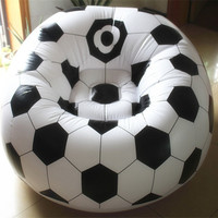 Pokój dzienny kanapa rozkładana sofa Nadmuchiwane koszykówki piłki nożnej pojedyncze siedzenie settee Środowiska PCV biały czarny Bearing100kgs Salon